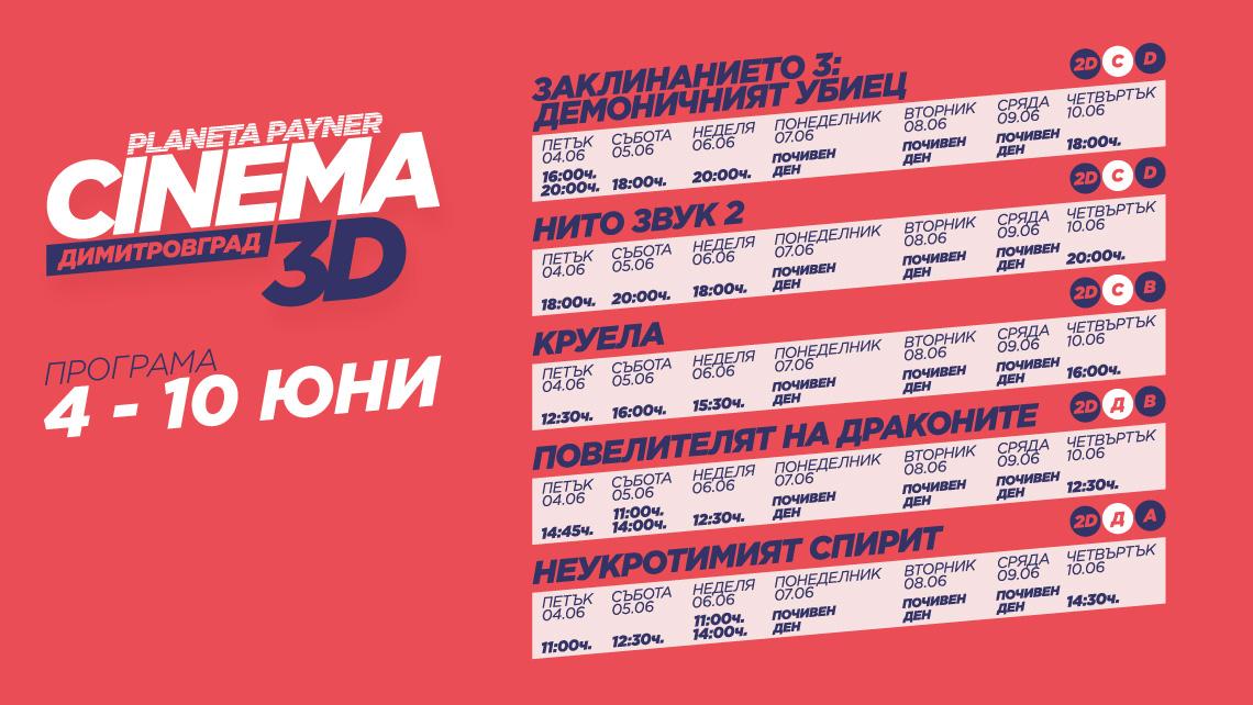 КИНОПРОГРАМА 4-10 ЮНИ